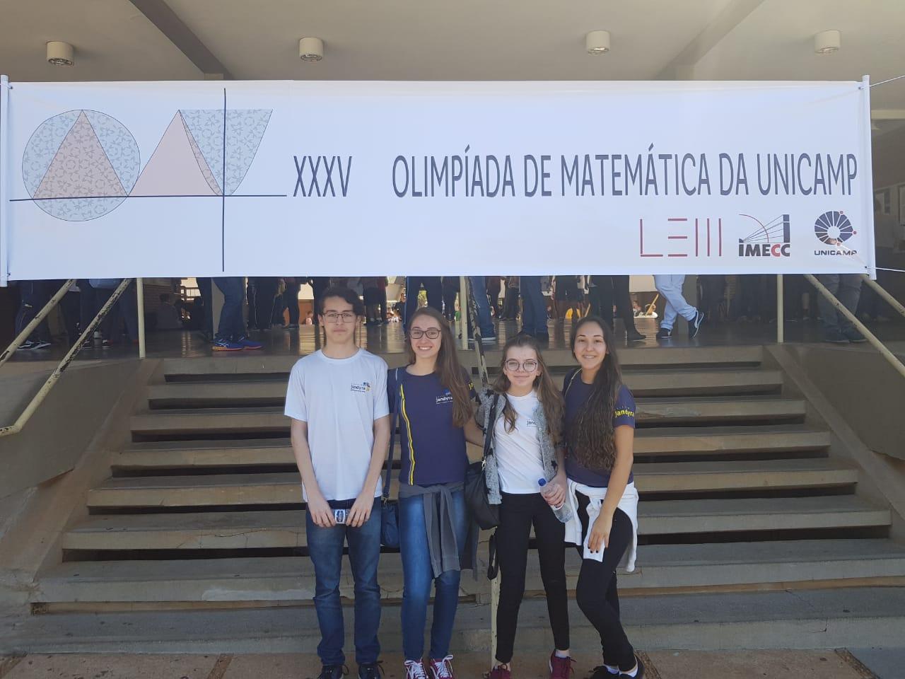 Alunos do Jandyra são finalistas da Olimpíada de Matemática da Unicamp